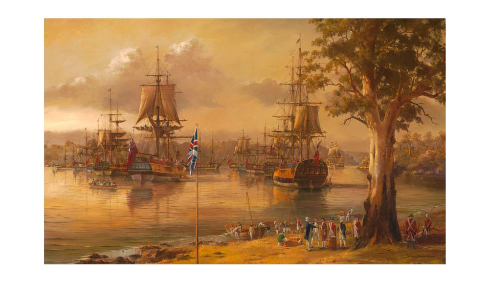 The First Fleet, Sydney Cove